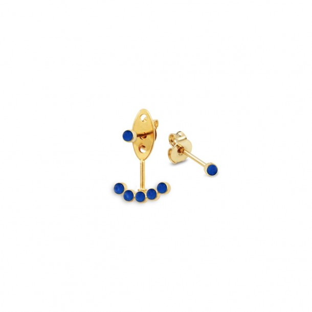 Bijoux d'oreilles dépareillés Juliette bleu