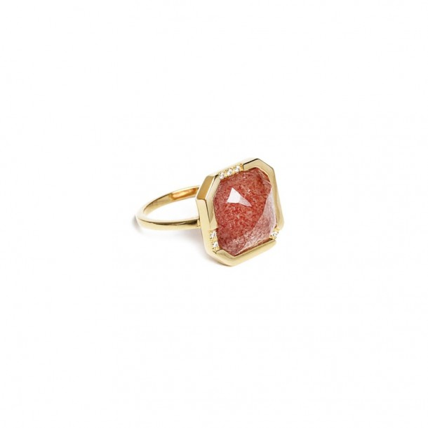 Bague Delia Quartz rose
