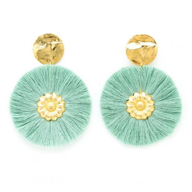 Boucles d'oreilles Paloma Vert d'eau