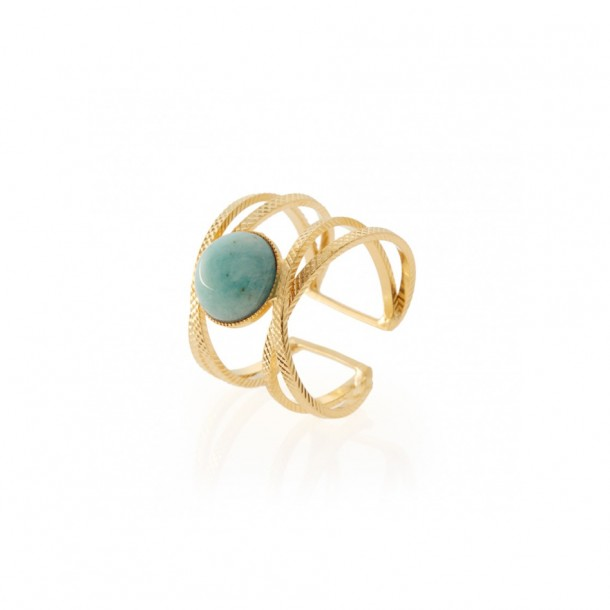 Bague Iris Amazonite de chine