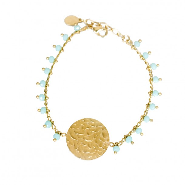 Bracelet souple Rhéa Turquoise