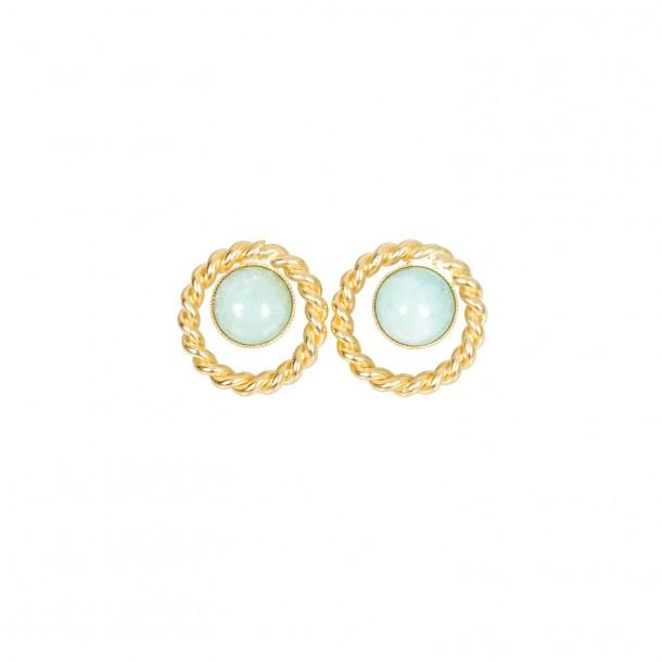 Boucles d'oreilles Venus Amazonite de chine