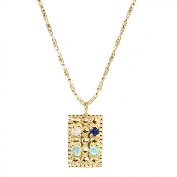 Collier long Mahdi Bleu