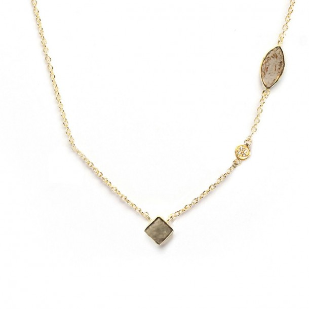 Collier court Shayan Pyrite