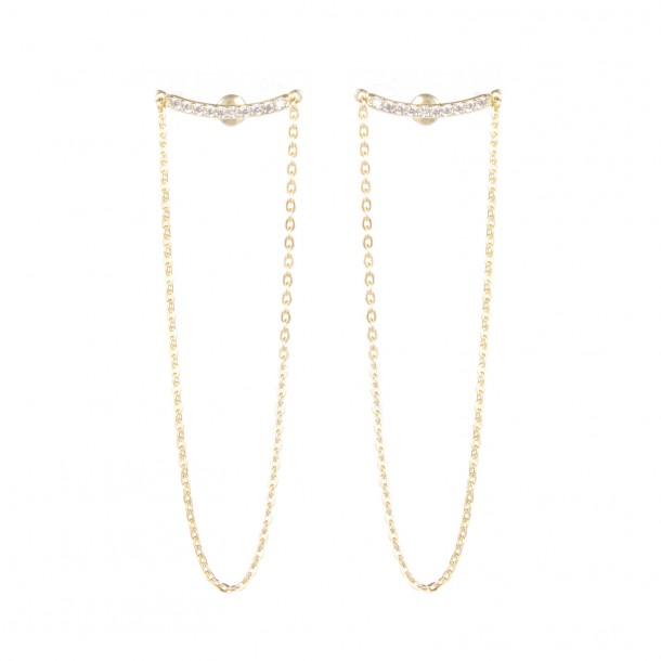 Bijoux d'oreilles Gold Ropes