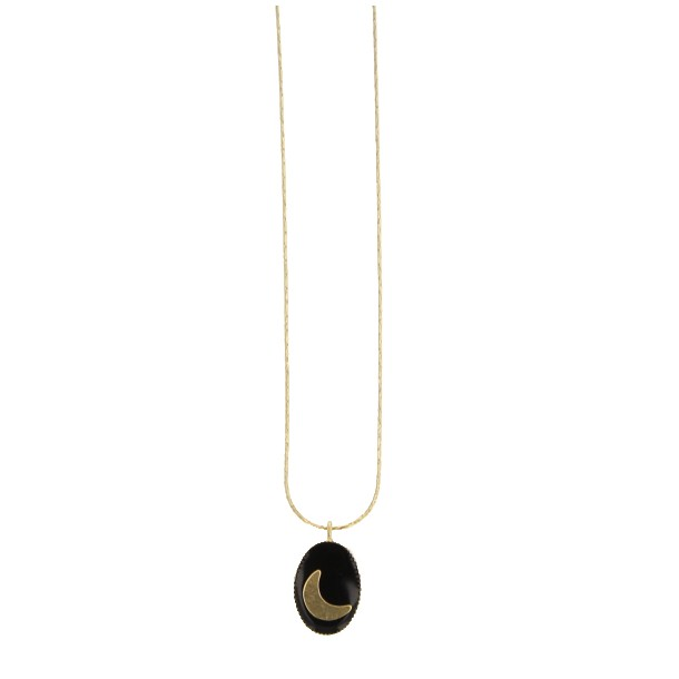 Collier court Talisman Lune