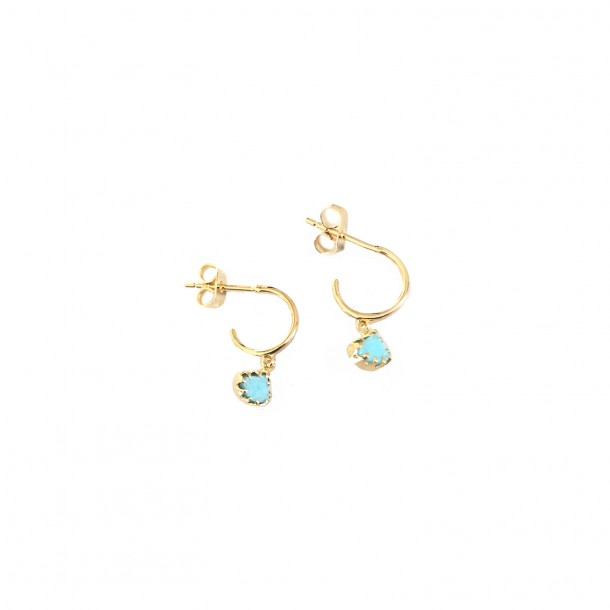 Boucles d'oreille Drift mini Amazonite