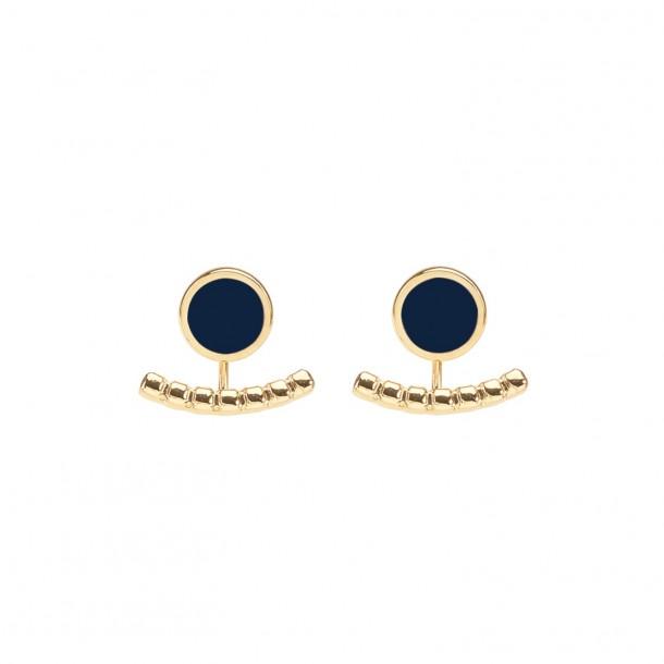 Bijoux d'oreilles Comète Bleu Nuit