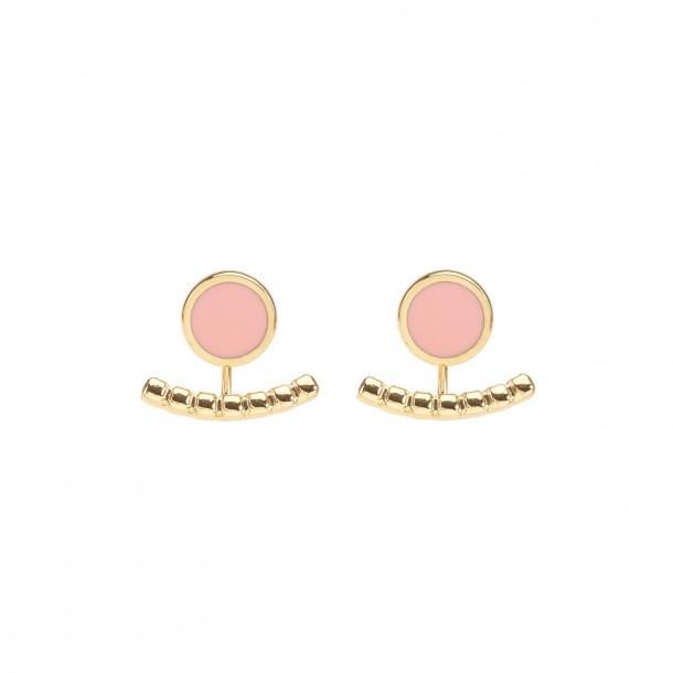 Bijoux d'oreilles Comète Rose Poudré