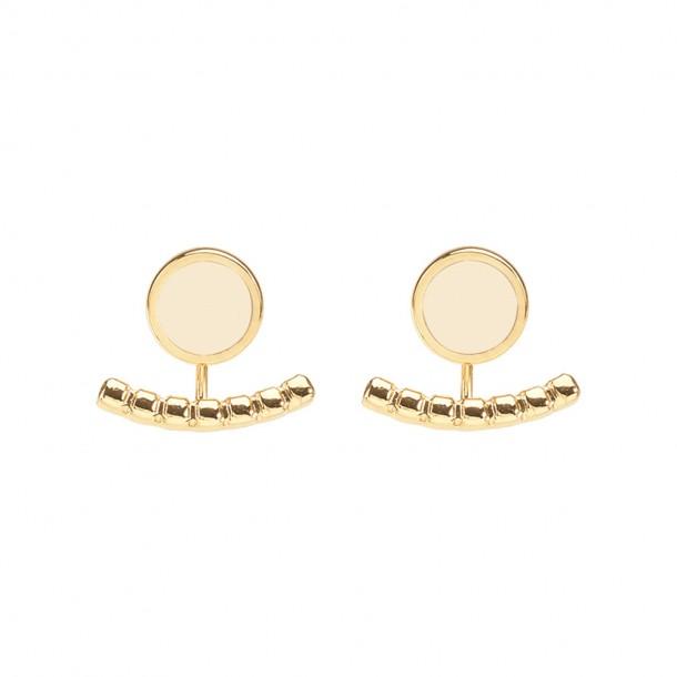 Bijoux d'oreilles Comète Blanc Sable