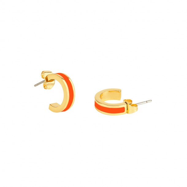 Mini Créoles Bangle Tangerine