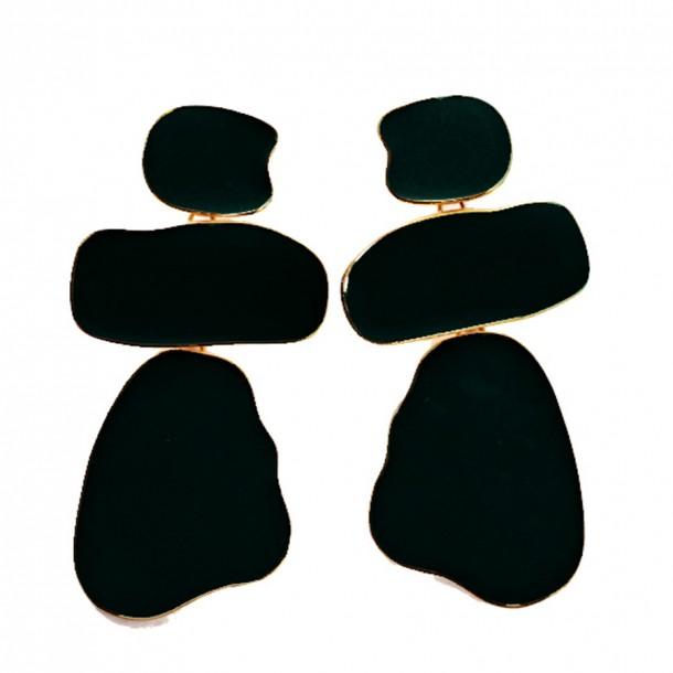 Pendants d'oreilles On the Rocks Black