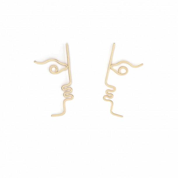 Boucles d'oreilles asymétriques Zivir