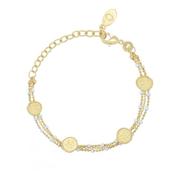 Bracelet Olympe Email Blanc