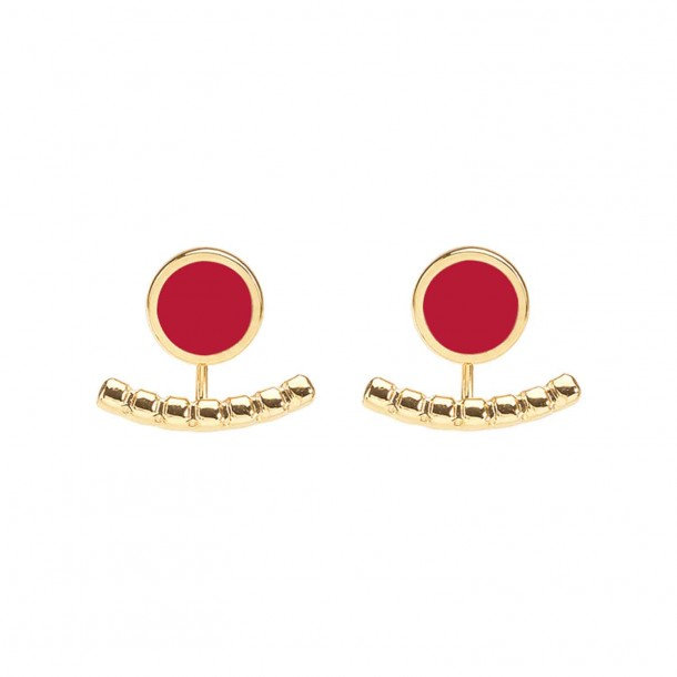 Bijoux d'oreilles Comète Rouge Velours