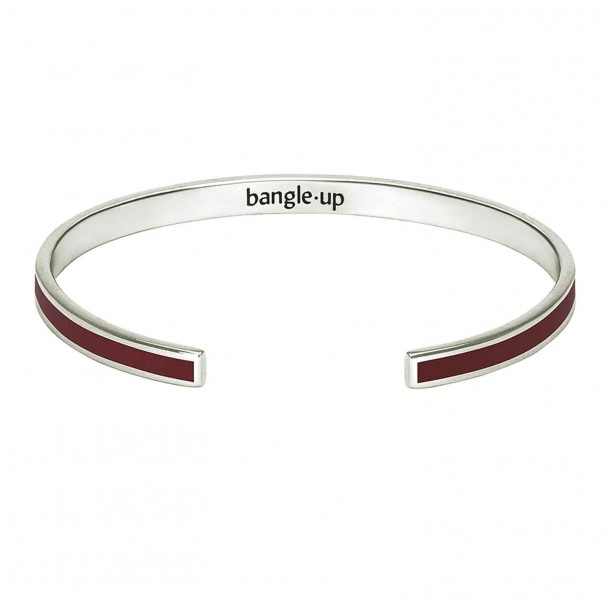 Jonc Bangle Bordeaux Argent