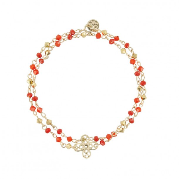 Bracelet double tour Corail
