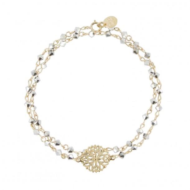 Bracelet double tour Miroir