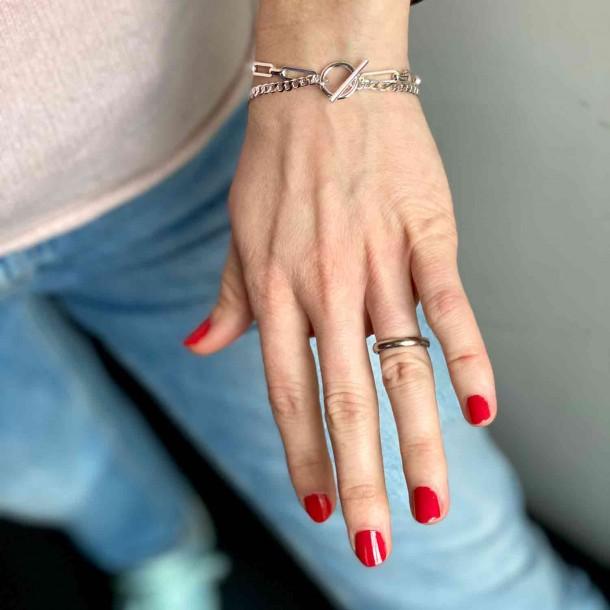 Bracelet Double Paris Argent