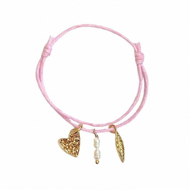 Bracelet Joli Coeur Rose