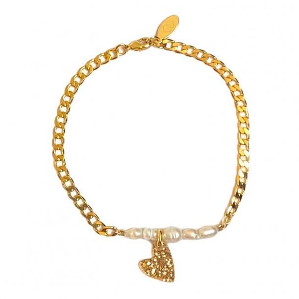 Bracelet Coeur Joie Doré