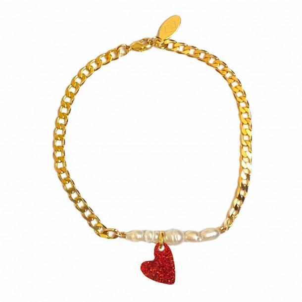 Bracelet Coeur Joie Rouge