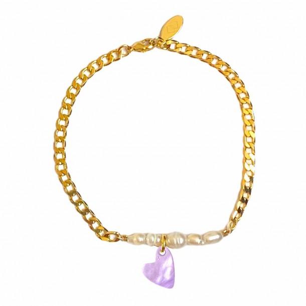 Bracelet Coeur Joie Lilas