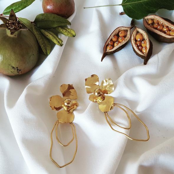 Boucles d'oreilles Flower